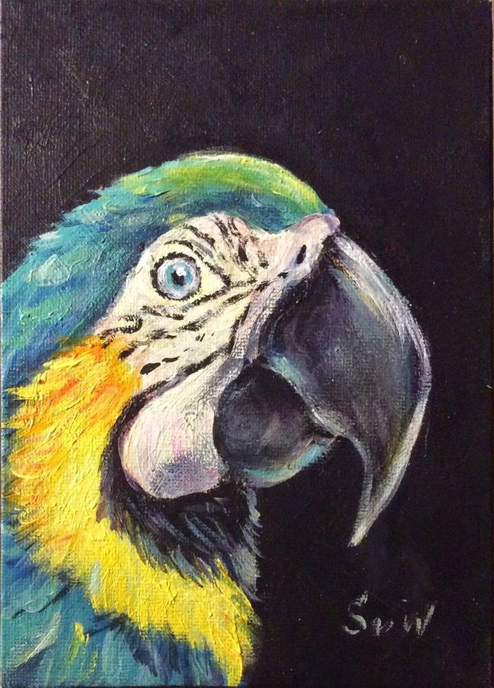 """""""Parrot painting"""" original fine art by Sonia von Walter"""