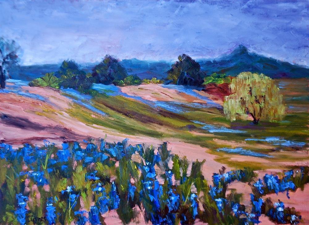 """Hill Country Bluebonnets"" original fine art by Liz Zornes"