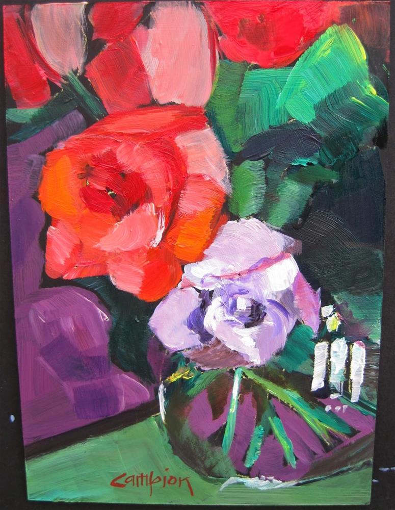"""330 Orange and Lavender"" original fine art by Diane Campion"