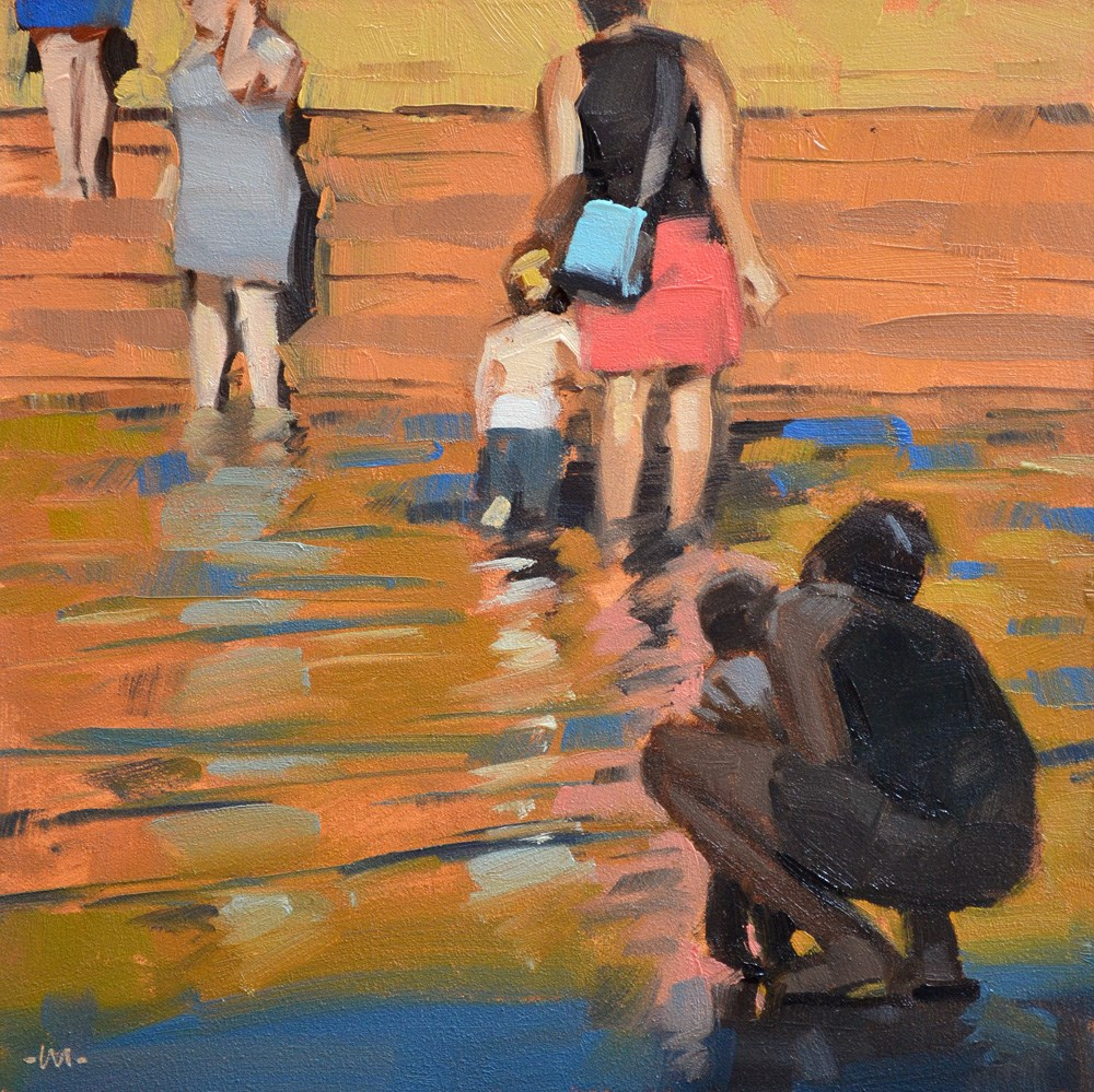 """Wading in the Light"" original fine art by Carol Marine"