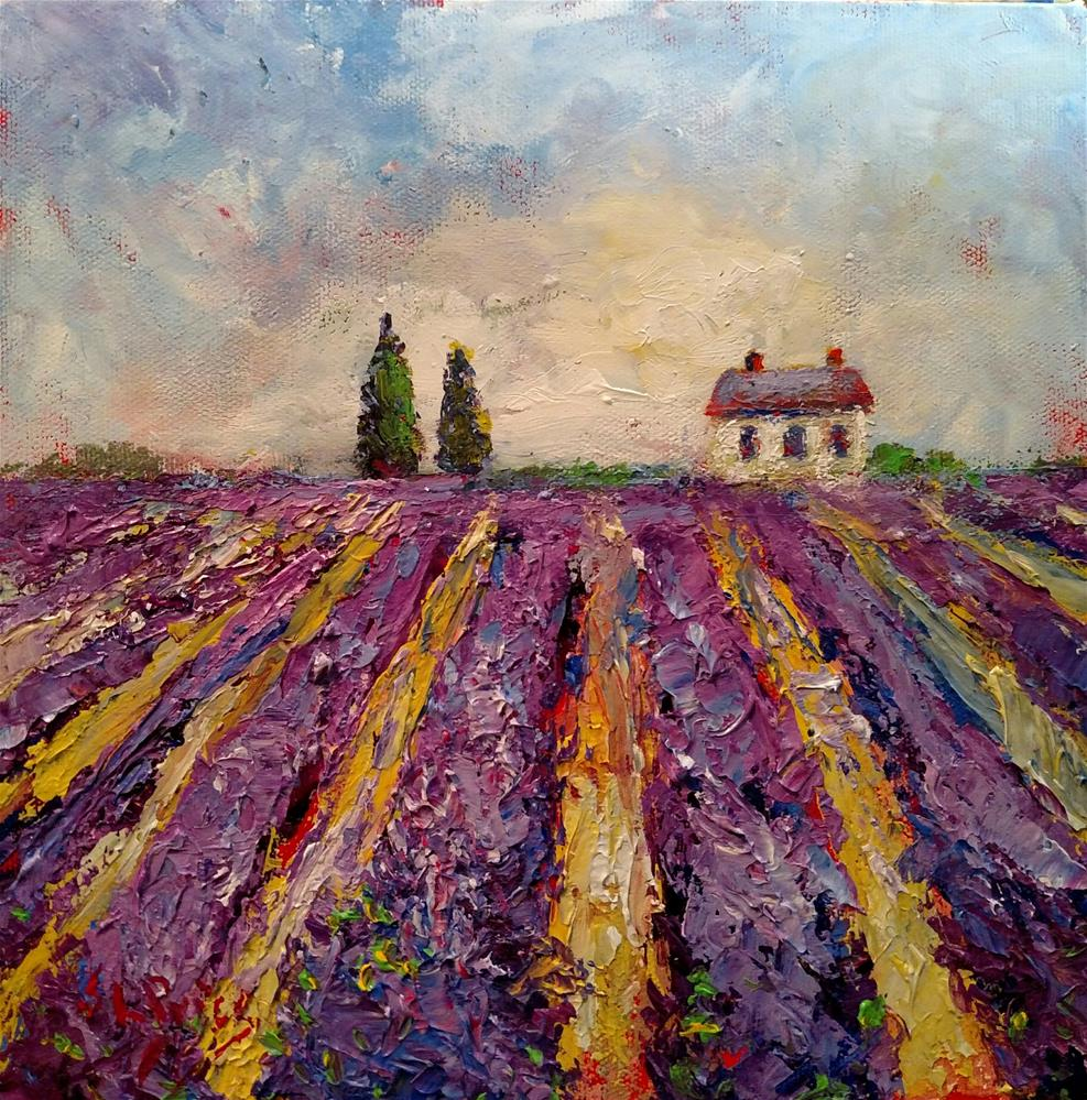 """Afternoon Lavender Field"" original fine art by S. Lynne Price"