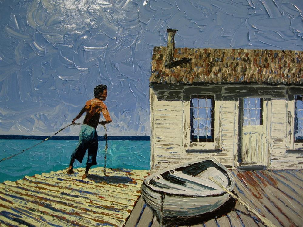 """Bringing in the Net"" original fine art by Darryl Freeman"