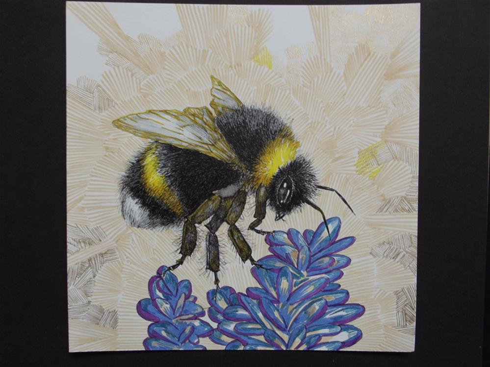"""Bee #1"" original fine art by wanda sigafus"