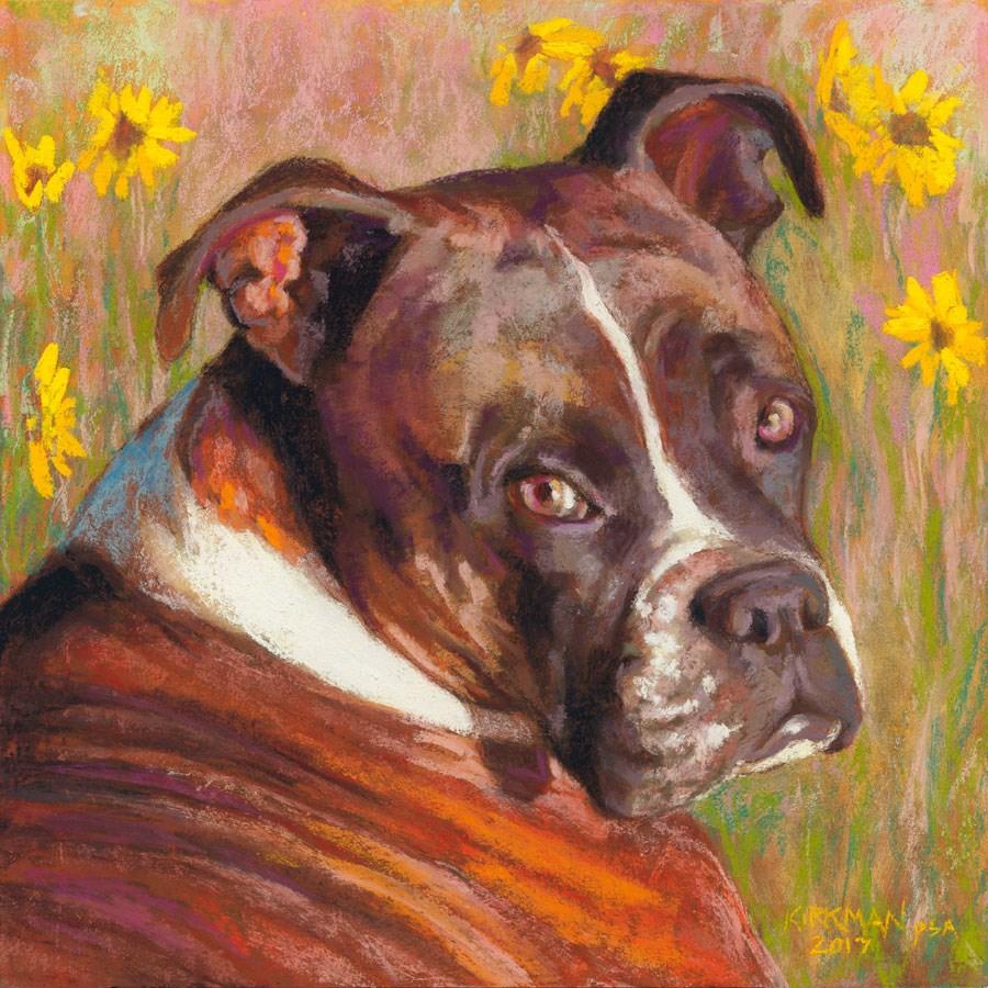 """""""Ellie Mae - a Pet Portrait Commission"""" original fine art by Rita Kirkman"""