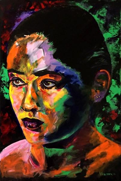 """Mark Webster Artist - Portrait Painting - Jen B. 2709"" original fine art by Mark Webster"