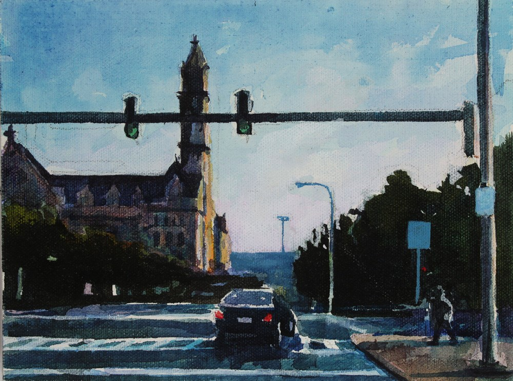 """Ellicott and North Division"" original fine art by Chris Breier"
