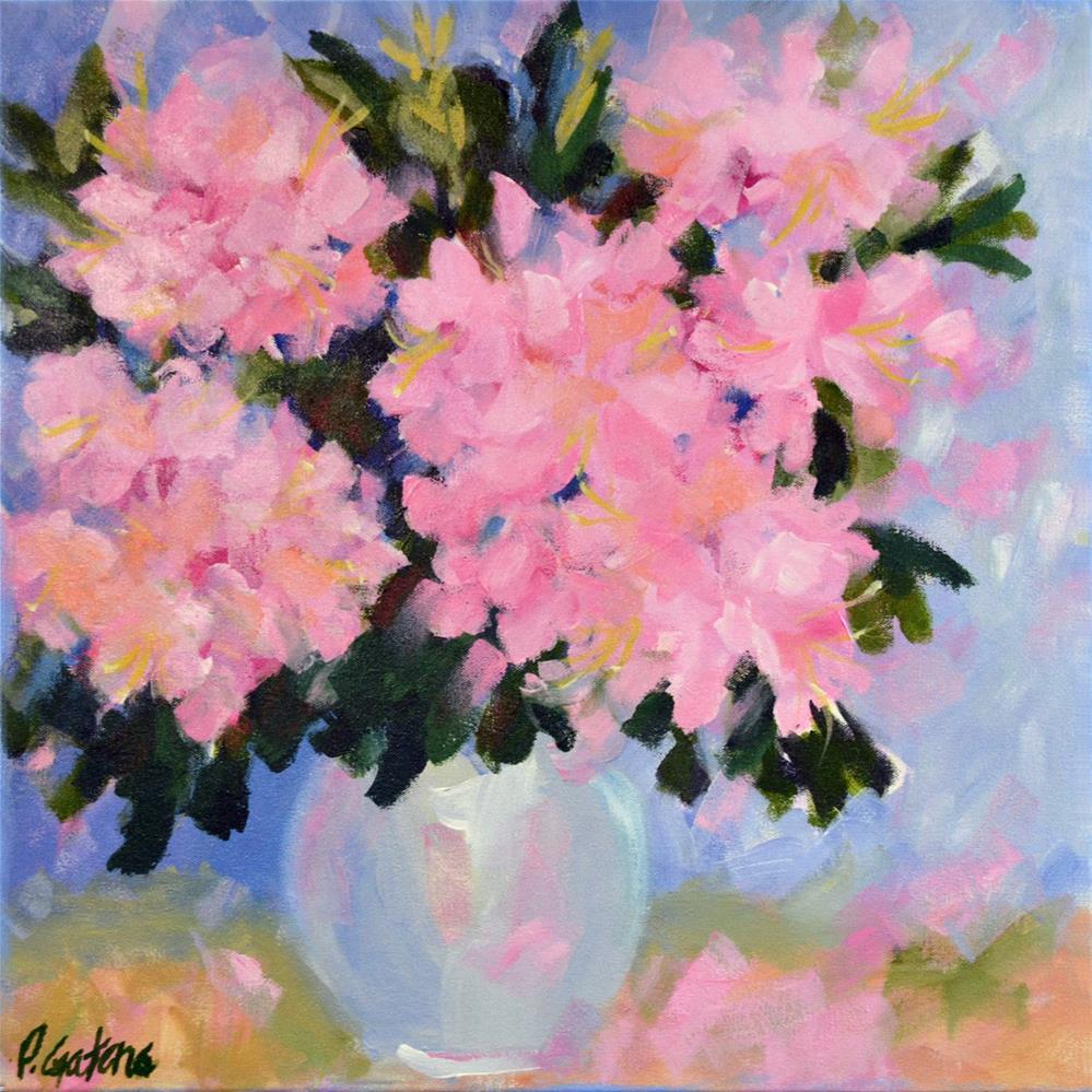 """Beautiful Rhodies"" original fine art by Pamela Gatens"