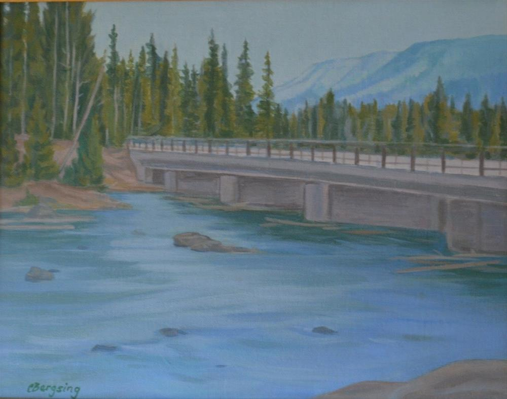 """Bridge by Lewis Falls"" original fine art by Cathy Bergsing"