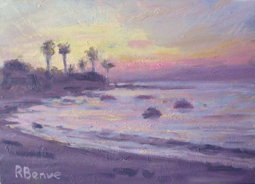 """""""Evening Beach"""" original fine art by Robie Benve"""