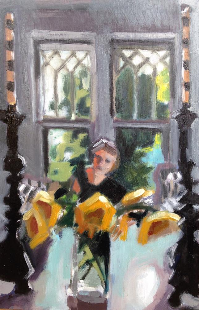 """Striped Candles"" original fine art by Pamela Hoffmeister"