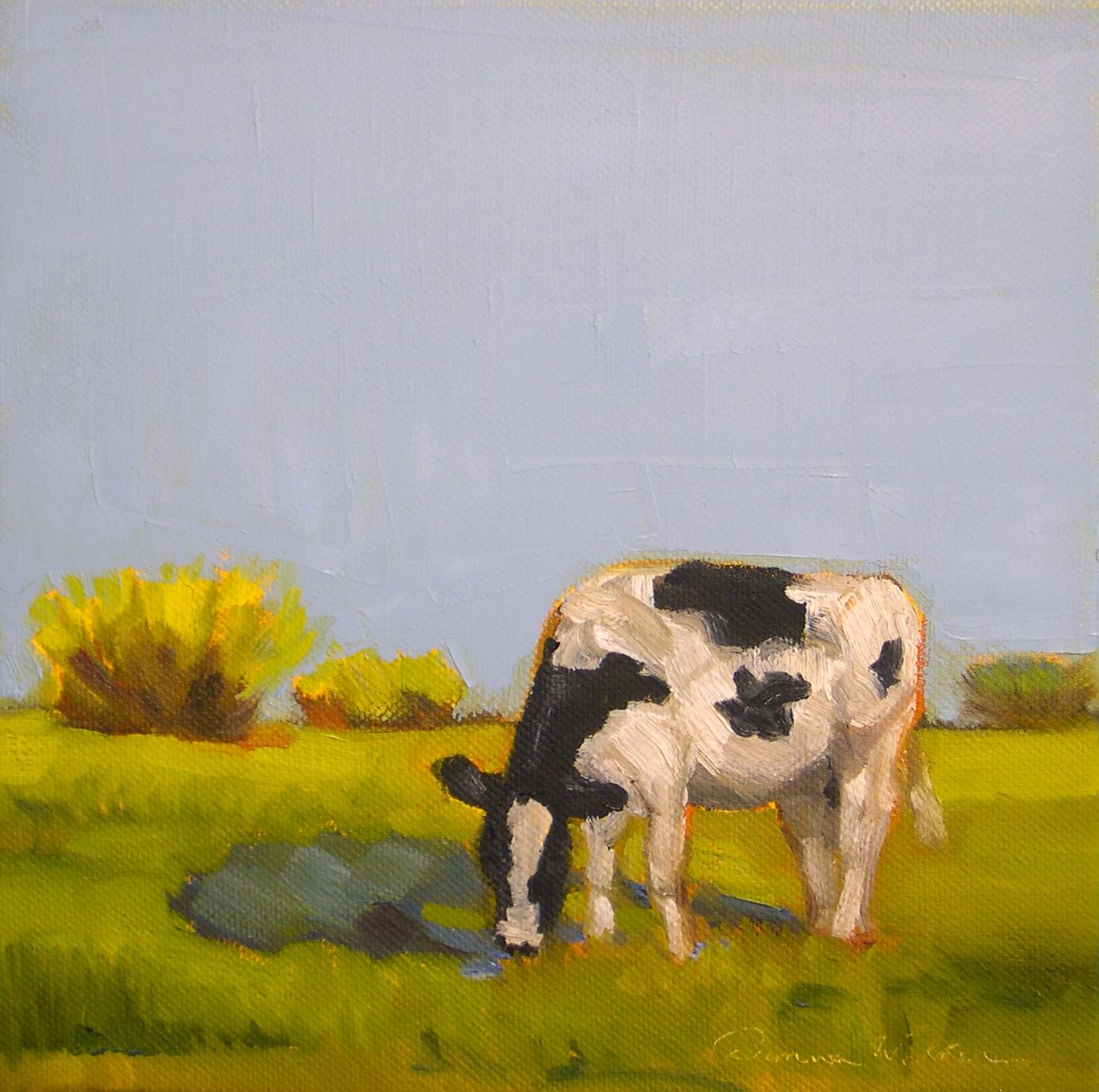"""""""Bright Pasture II"""" original fine art by Donna Walker"""