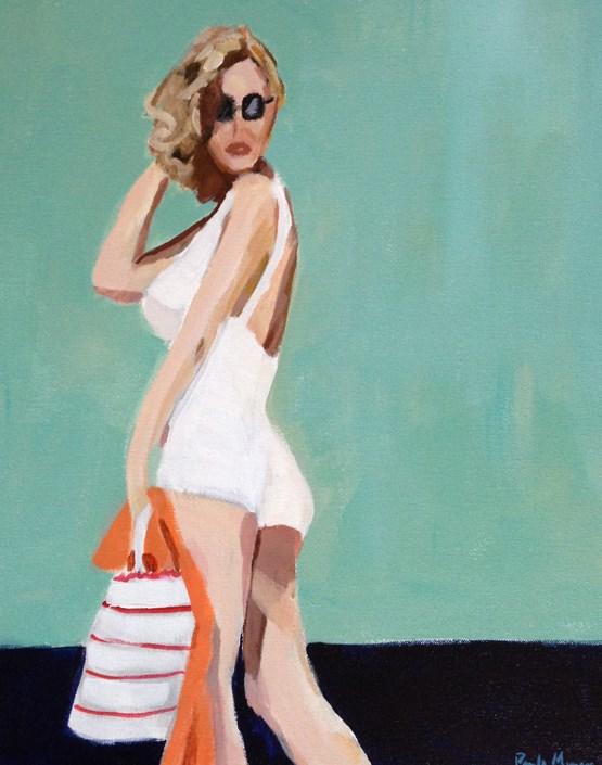 """""""Beach Day"""" original fine art by Pamela Munger"""