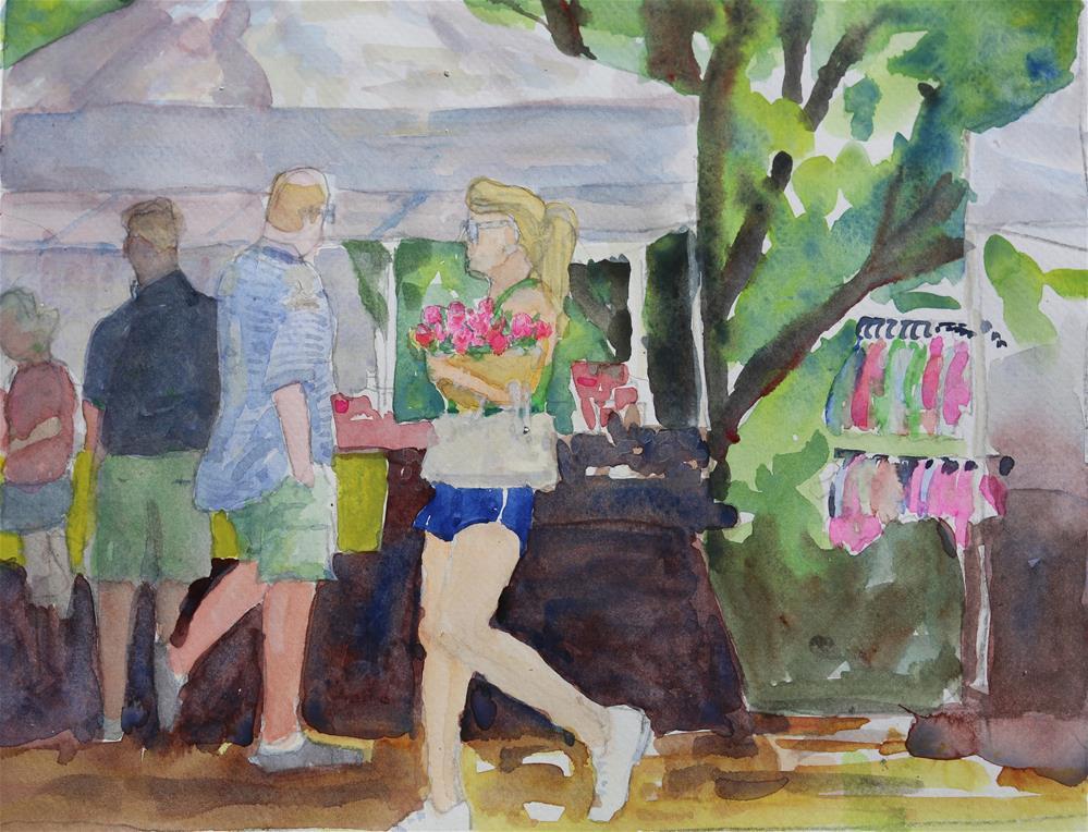 """""""Flowers--Farmers Market"""" original fine art by Michael Saunders"""