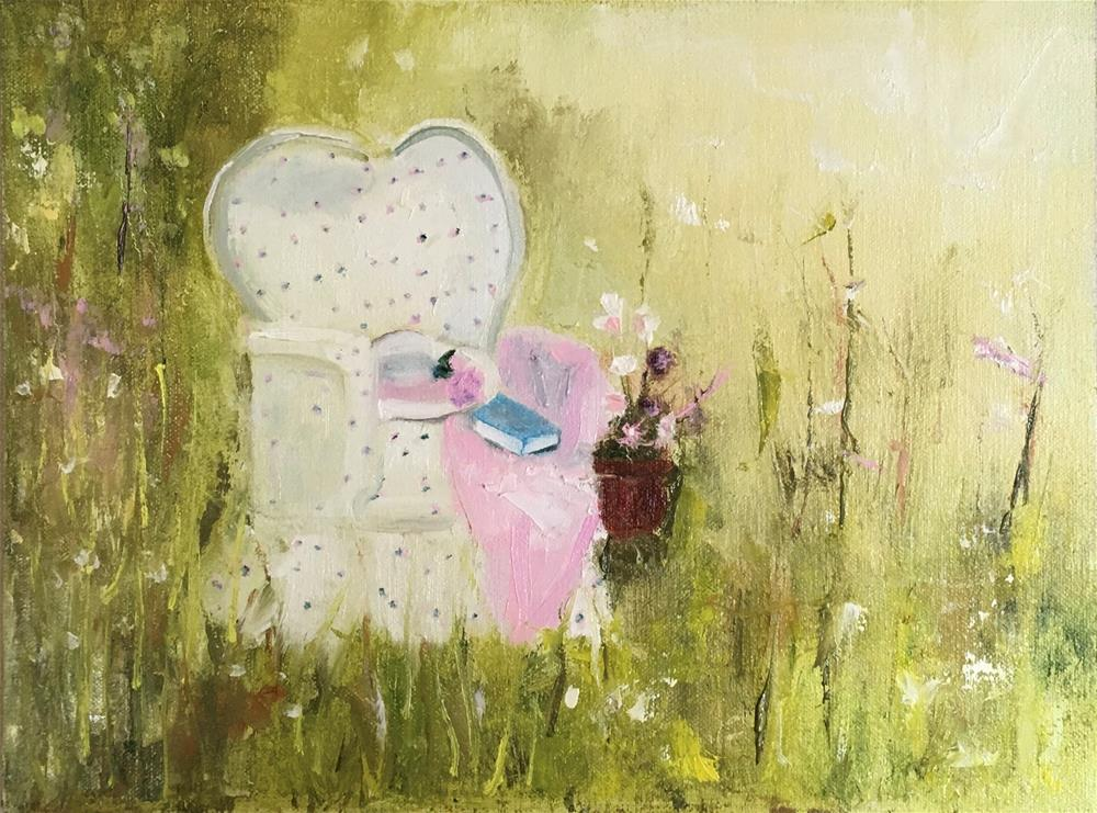 """""""Where There Is Peace (Framed)"""" original fine art by Patty Barnes"""