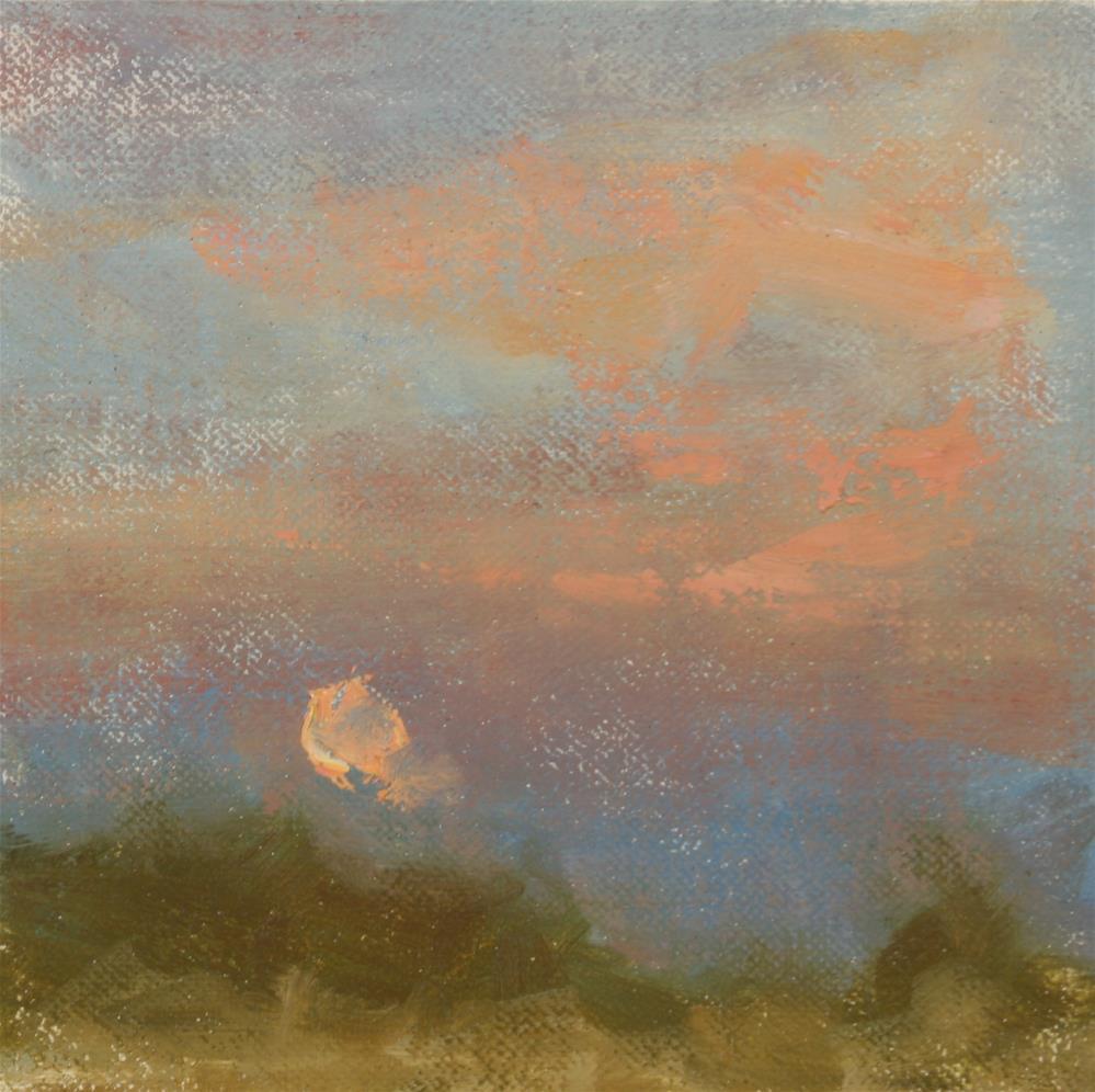 """""""Blue Moon October"""" original fine art by Scott Serafica"""