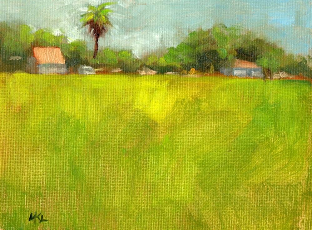 """Palm Tree on Cache Dairy Farm"" original fine art by Marlene Lee"