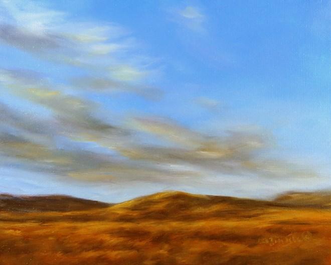 """""""Golden Hill"""" original fine art by Carol Zirkle"""