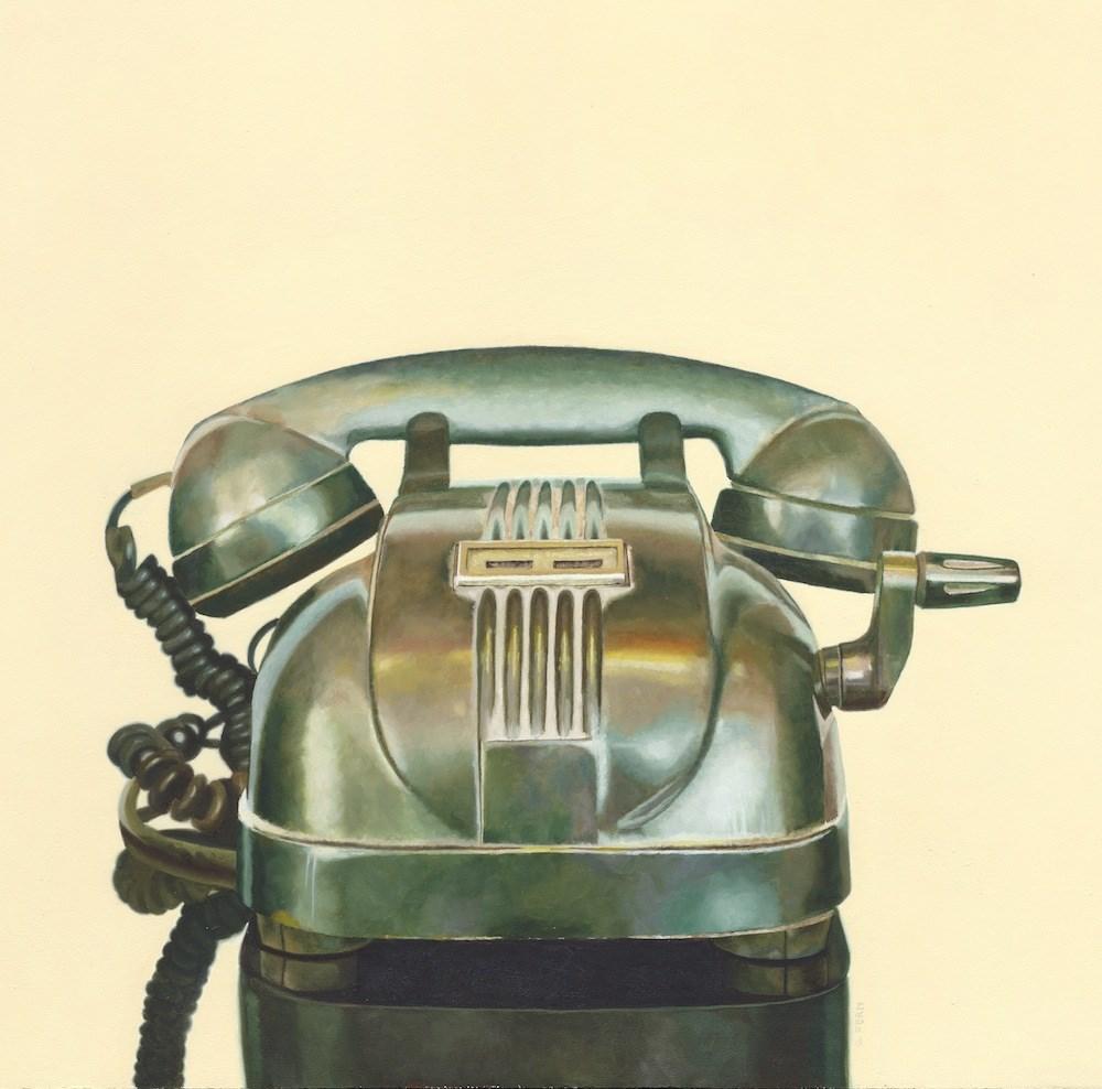 """Vintage Telephone"" original fine art by Susan Fern"