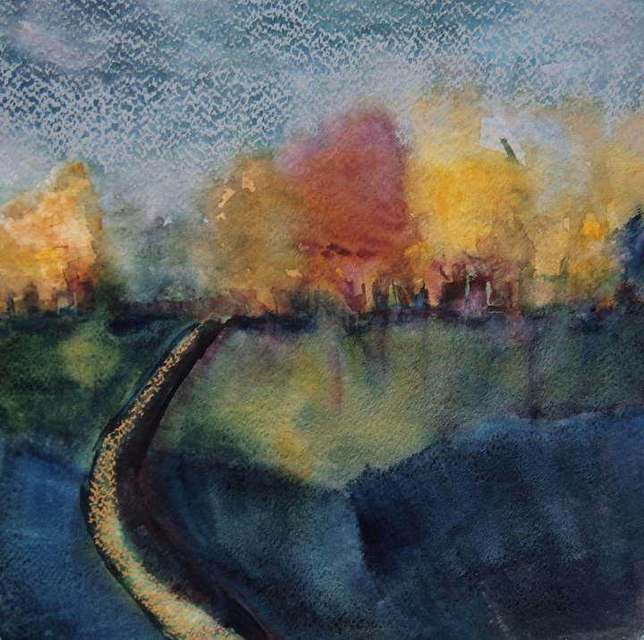 """""""Curved Road"""" original fine art by Amy Bryce"""