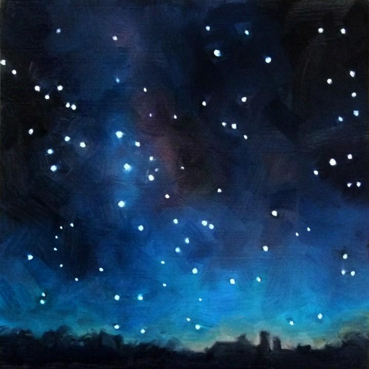 """""""Galactic Center"""" original fine art by Deb Anderson"""