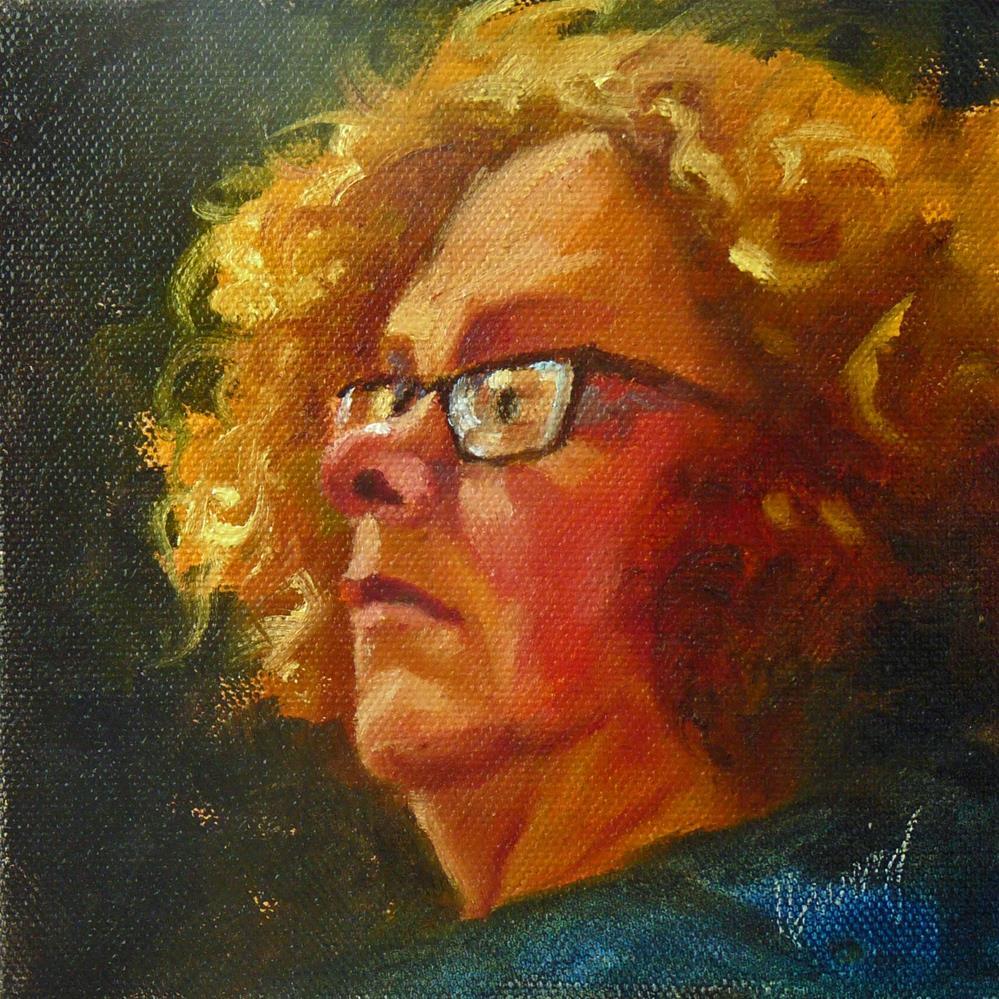 """""""Listen #1"""" original fine art by Sharman Owings"""