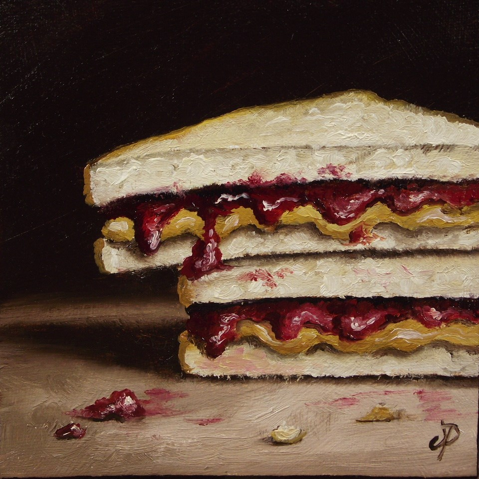 """Peanut butter and jelly #3"" original fine art by Jane Palmer"