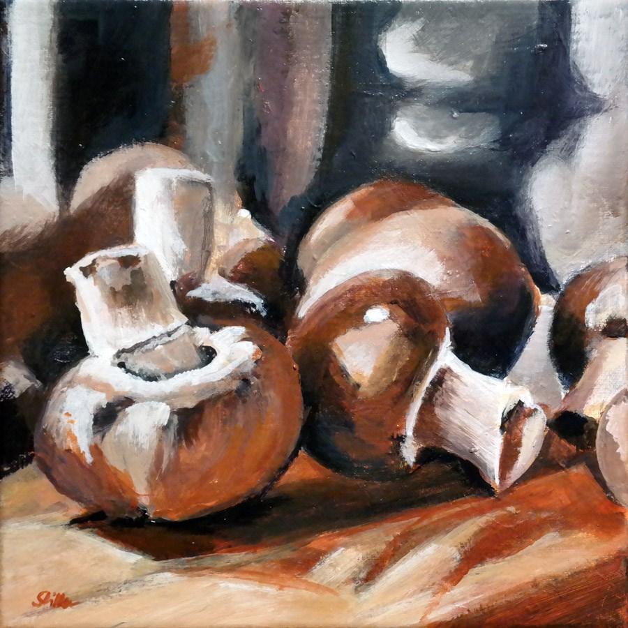 """""""1566 Champignons"""" original fine art by Dietmar Stiller"""