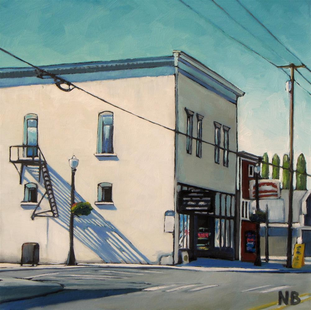 """Fire Escape"" original fine art by Nora Bergman"