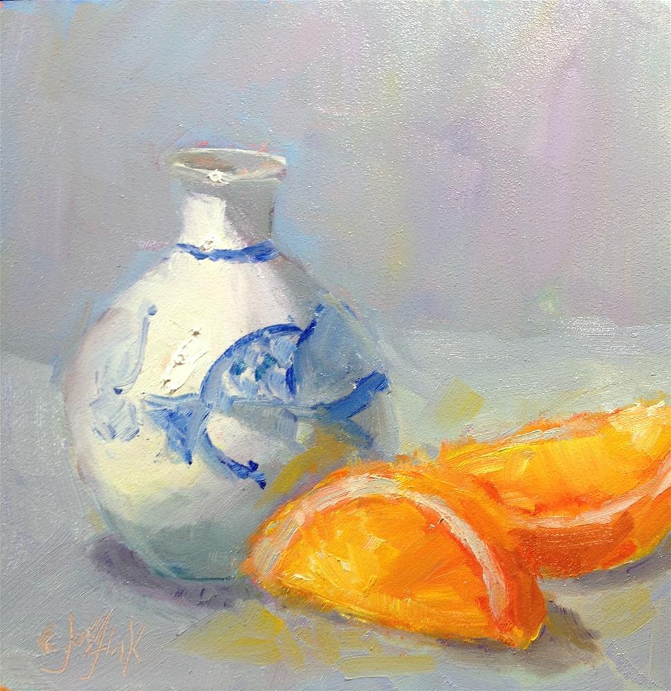 """Favorite Bud Vase"" original fine art by Carol Josefiak"