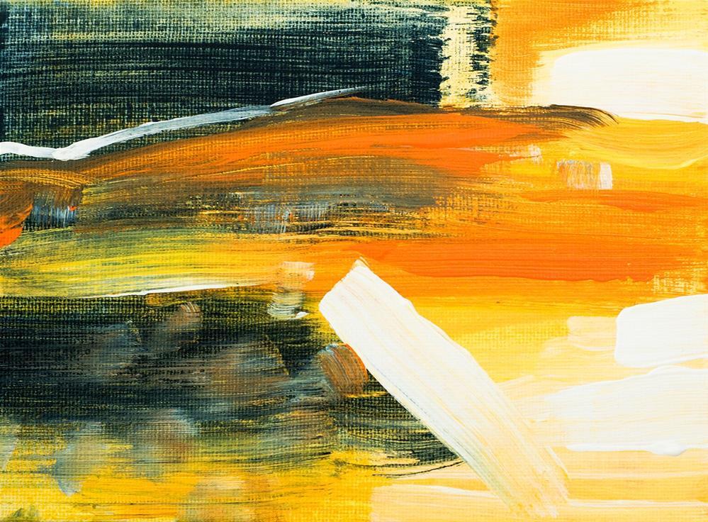 """""""Sunset Beach"""" original fine art by Franziska Schwade"""