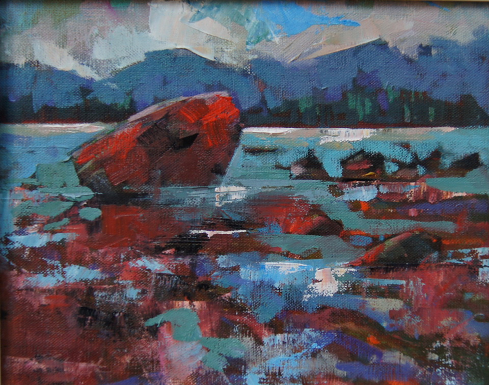 """Rocks and Reflections"" original fine art by Brian Buckrell"