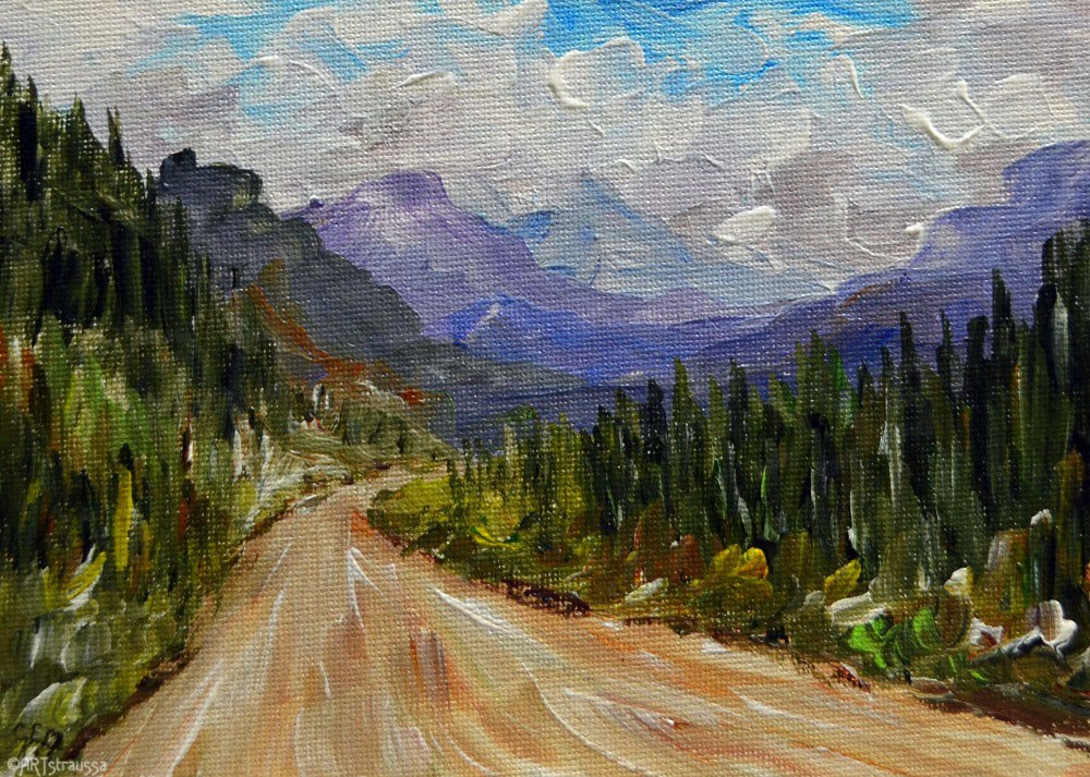 """SALE!!! Road to Lillooet Lake"" original fine art by Gloria Ester"