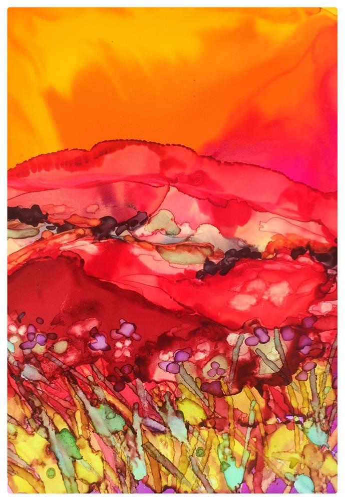 """""""Red Field II"""" original fine art by Kelly Alge"""