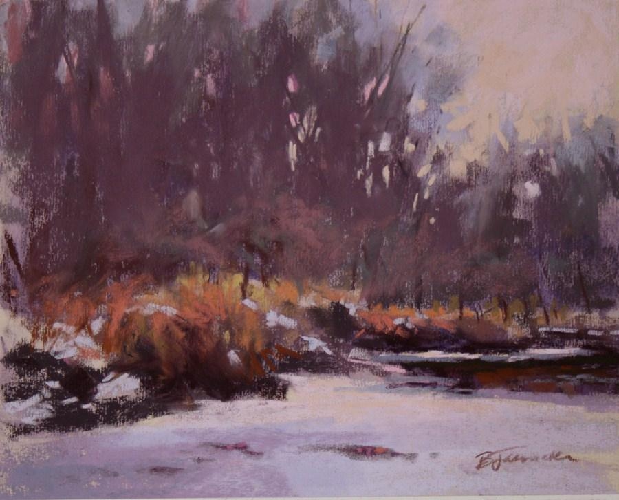 """Rum River Glow Study"" original fine art by Barbara Jaenicke"