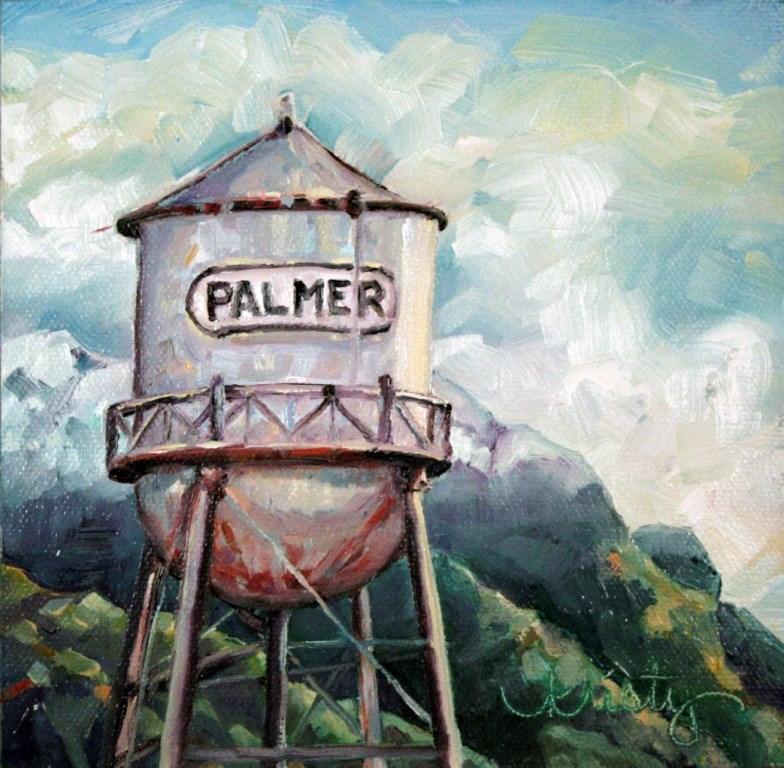 """PALMER H2O"" original fine art by Kristy Tracy"