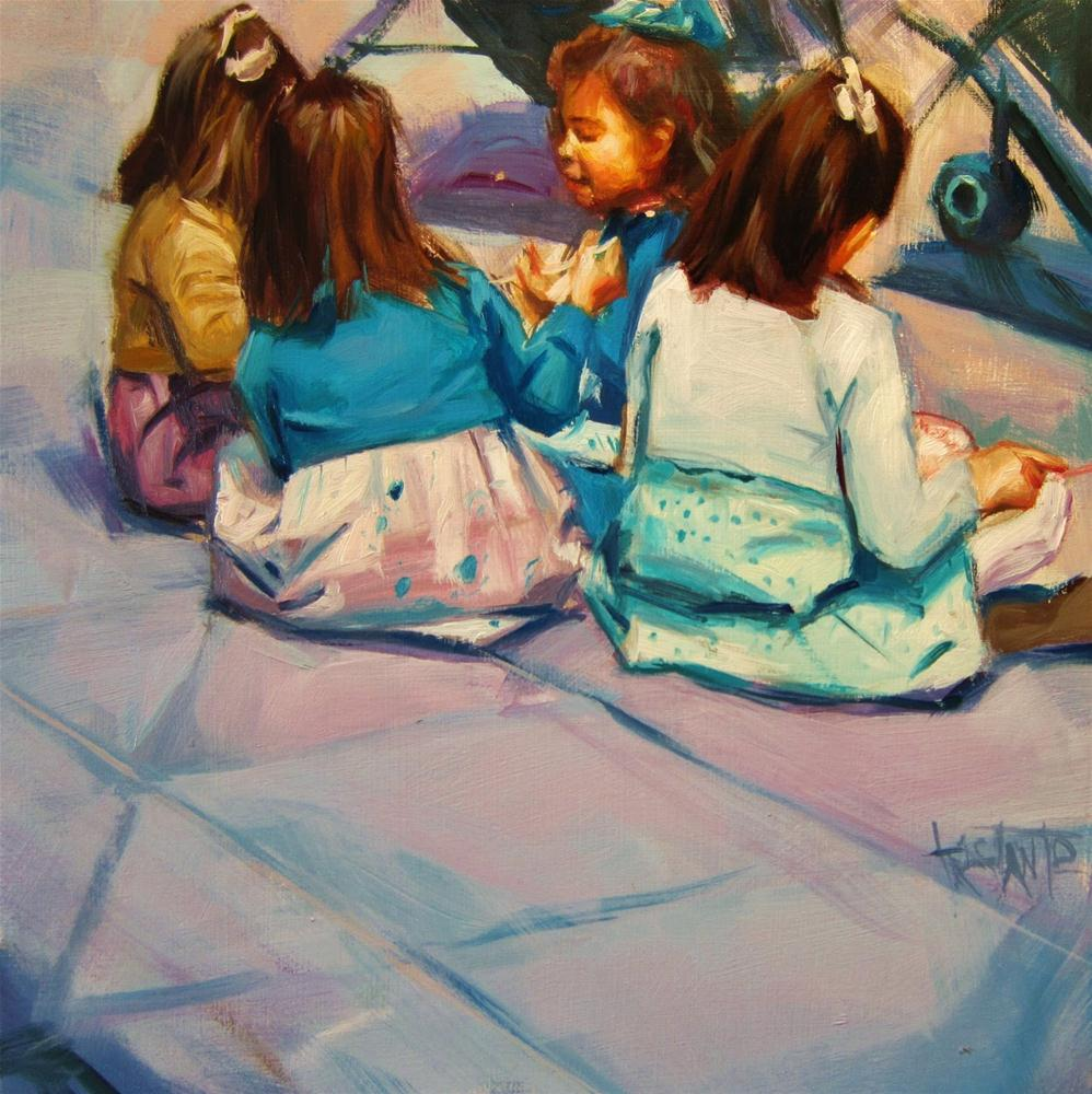 """Children´s meeting"" original fine art by Víctor Tristante"