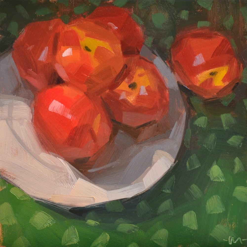 """Too Many Nectarines"" original fine art by Carol Marine"