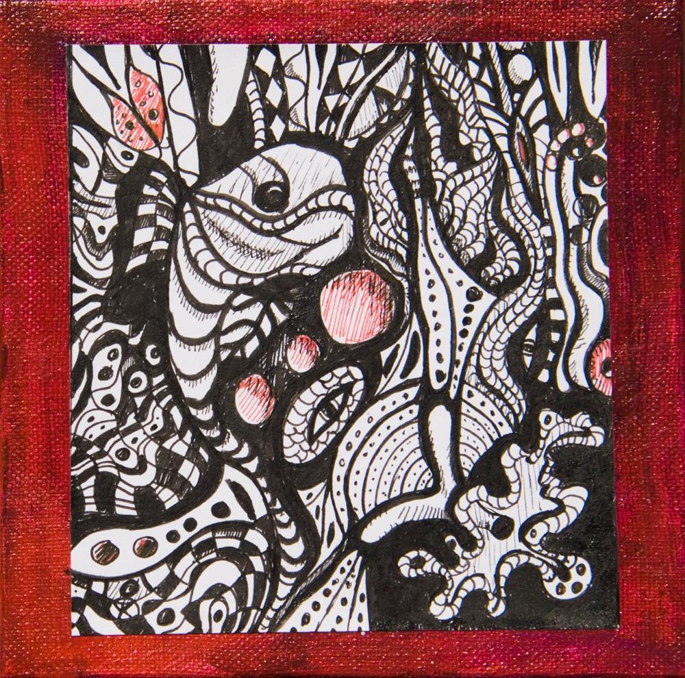 """Jungle Fish"" original fine art by Yulia Kazansky"