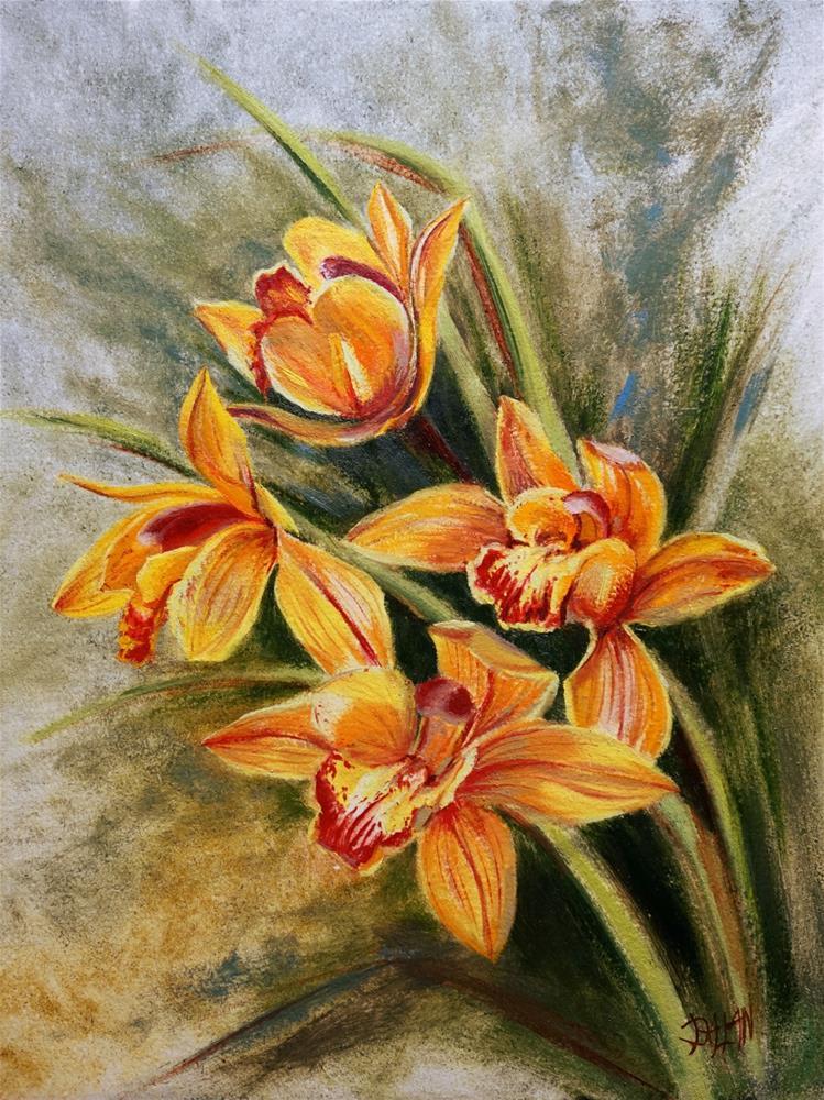 """""""Orchids"""" original fine art by Dalan Wells"""
