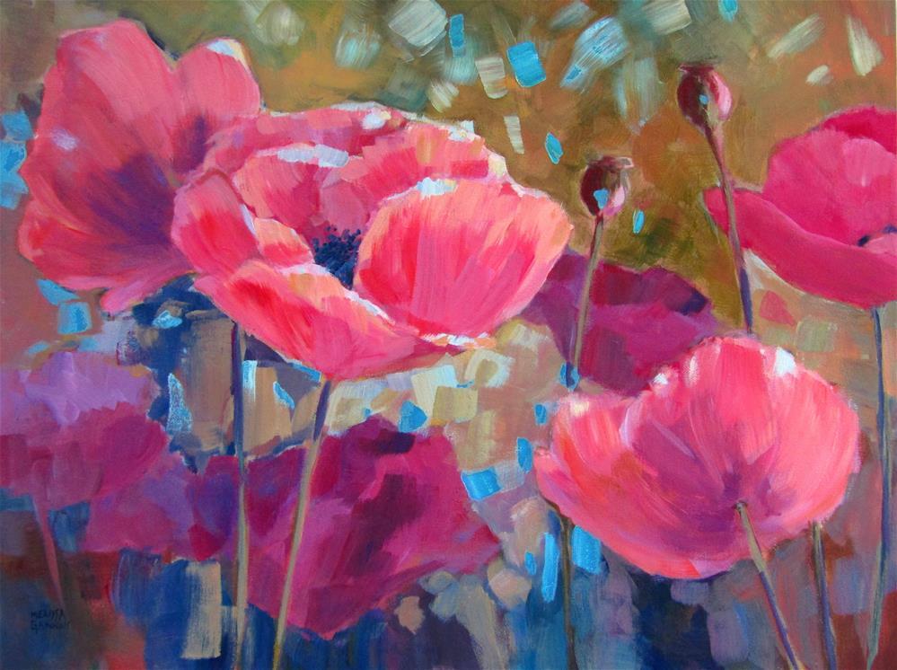 """Poppies of Coral"" original fine art by Melissa Gannon"