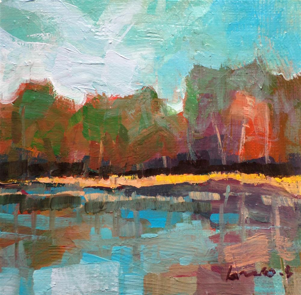 """Reflection on the lake"" original fine art by salvatore greco"