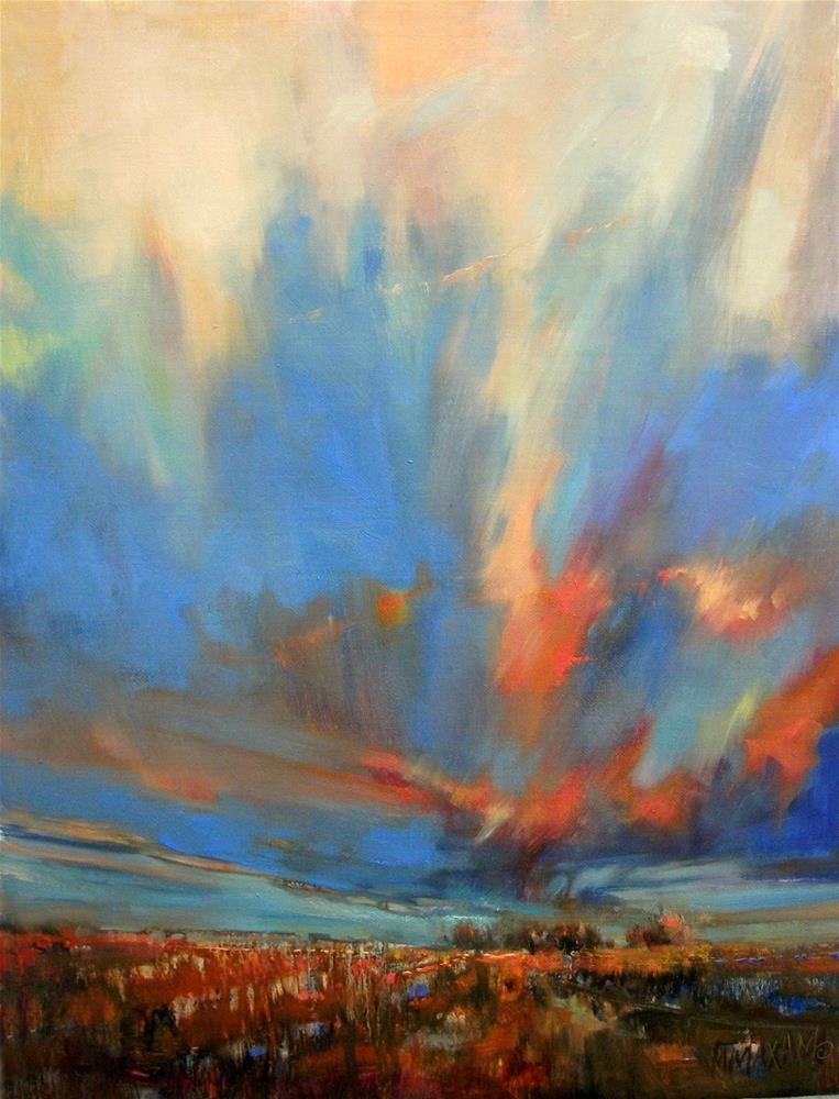 """Sky Lights"" original fine art by Mary Maxam"