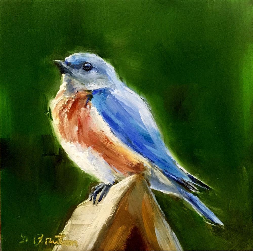 """""""bluebird"""" original fine art by Gary Bruton"""
