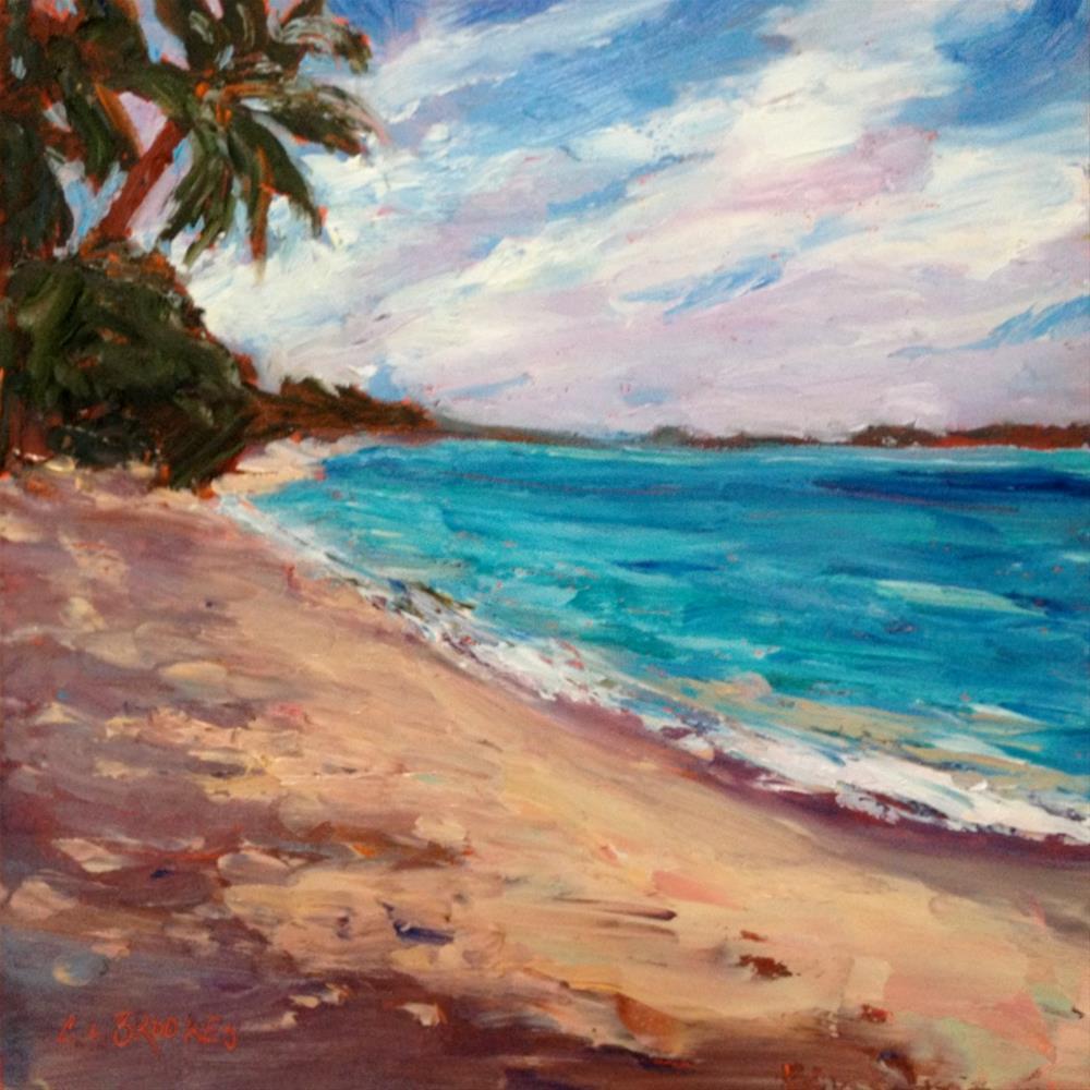 """Beach Sun and Shadow"" original fine art by Claudia L Brookes"