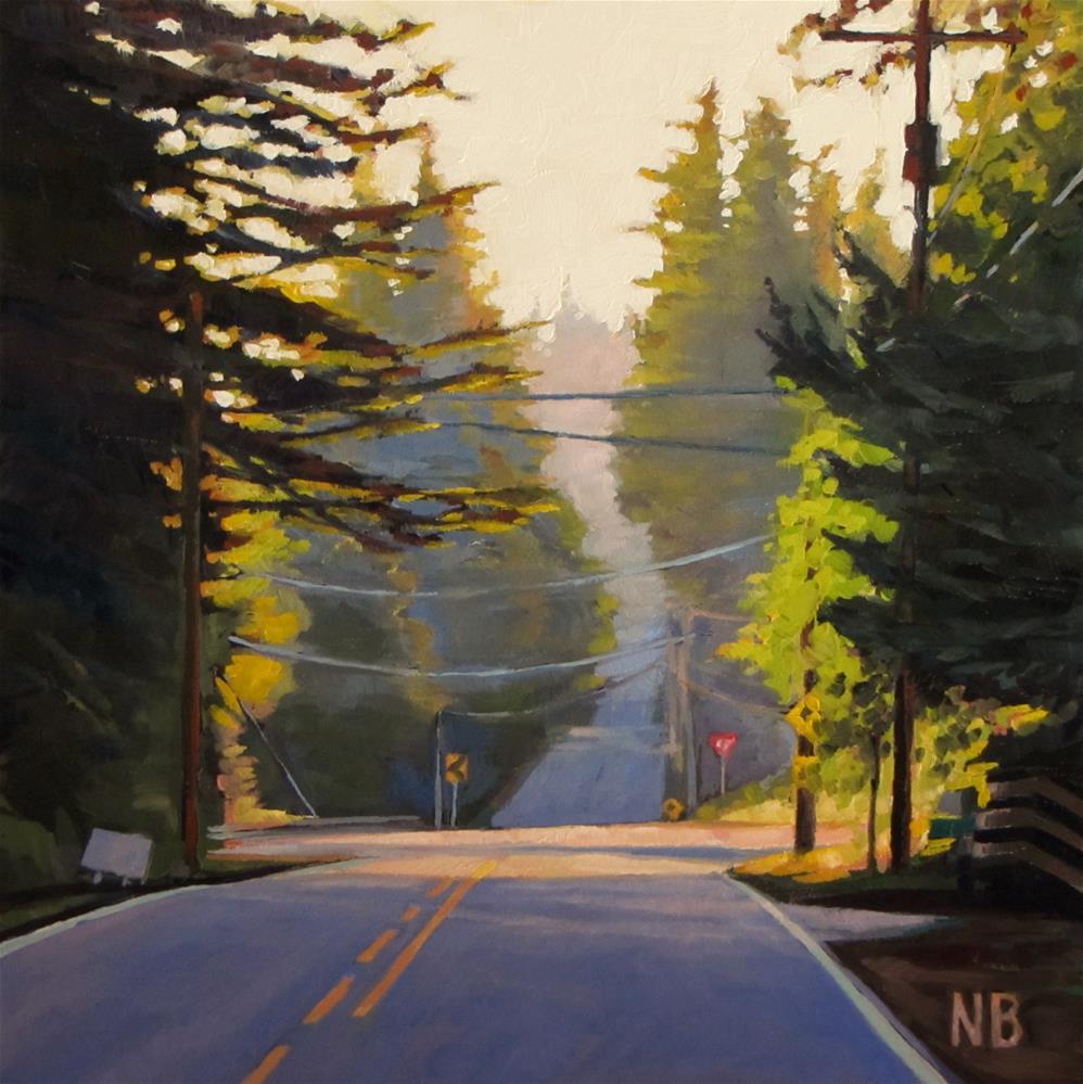 """Back Roads to Battle Ground"" original fine art by Nora Bergman"