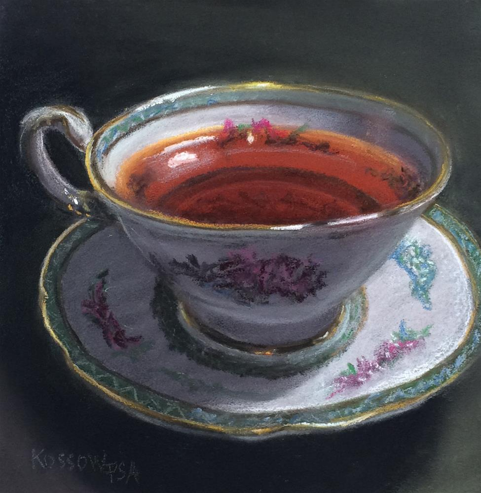 """""""Another Cup"""" original fine art by Cristine Kossow"""