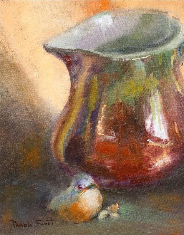 """Bluebird of Happiness"" original fine art by Pamela Sweet"