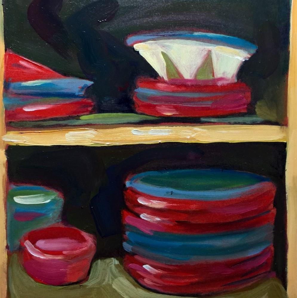 """""""0380: Inside My Kitchen Cabinet"""" original fine art by Brian Miller"""