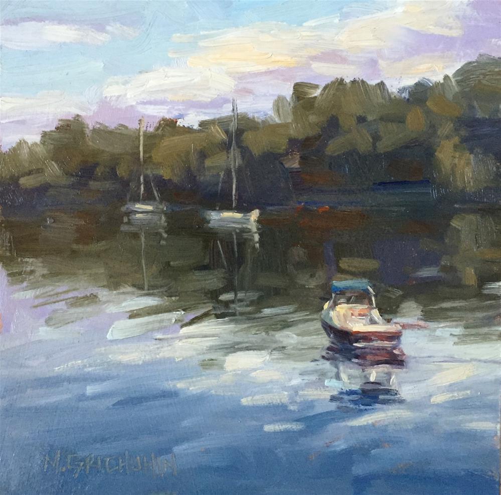 """Three Boats"" original fine art by Meisha Grichuhin"
