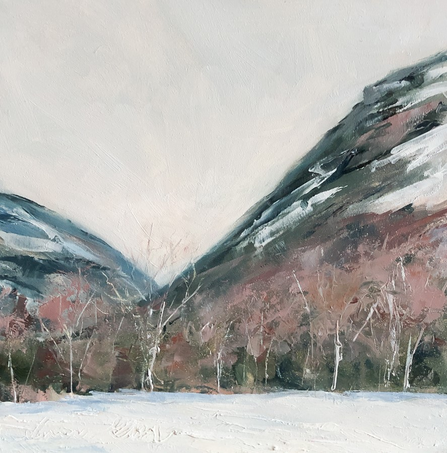 """#264 - Looking North - Crawford Notch"" original fine art by Sara Gray"